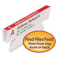 Smead Viewables Hanging Folder Tabs, Angle View Refill, 3 1/2 Inch, White, 45/Pack SMD64912