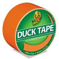 "Duck Colored Duct Tape, 9 mil, 1.88"" x 15 yds, 3"" Core, Neon Orange DUC1265019"