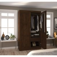 Bestar Pur by Bestar Pullout Armoire in Chocolate BESBES2686169