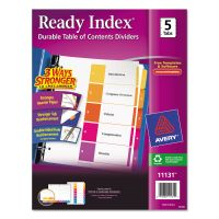 Avery Ready Index Customizable Table of Contents Multicolor Dividers, 5-Tab, Letter AVE11131