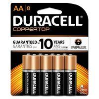 Duracell CopperTop Alkaline Batteries, AA, 8/PK DURMN1500B8Z