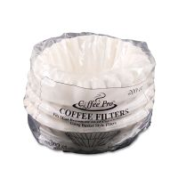 Coffee Pro Basket Filters for Drip Coffeemakers, 10 to 12-Cups, White, 200 Filters/Pack OGFCPF200