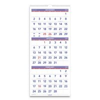 AT-A-GLANCE Vertical-Format Three-Month Reference Wall Calendar, 12 x 27, 2019 AAGPM1128