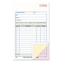Adams Carbonless Sales Order Book, Three-Part Carbonless, 4-3/16 x 7 3/16, 50 Sheets ABFTC4705
