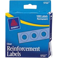 Avery Clear Self-Adhesive Reinforcement Labels 1000/Pkg NOTM245402