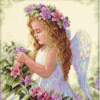 Passion Flower Angel Counted Cross Stitch Kit NOTM390814