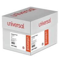 Universal Green Bar Computer Paper, 18lb, 14-7/8 x 11, Perforated Margins, 2600 Sheets UNV15851