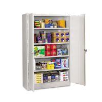 Tennsco Assembled Jumbo Steel Storage Cabinet, 48w x 18d x 78h, Light Gray TNNJ1878SULGY