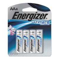 Energizer Ultimate Lithium Batteries, AA, 4/Pack EVEL91SBP4
