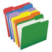 Pendaflex Reinforced Top Tab File Folders, 1/3 Cut, Letter, Assorted, 100/Box PFXR15213ASST