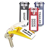 Durable Key Tags for Locking Key Cabinets, Plastic, 1 1/8 x 2 3/4, Assorted, 24/Pack DBL194900