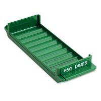 MMF Industries Porta-Count System Rolled Coin Plastic Storage Tray, Green MMF212081002