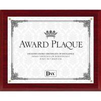 DAX Mahogany Wall Award Plaque DAXN1581MT