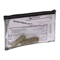 PM Company Bank Deposit Coin Bag with Zipper, Vinyl, 11 x 6, Clear PMC04628