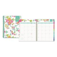 Blue Sky Day Designer CYO Weekly/Monthly Planner, 8 1/2 x 11, White/Floral, 2019 BLS103618