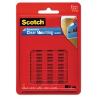 """Scotch Mounting Squares, Precut, Removable, 11/16"""" x 11/16"""", Clear, 35/Pack MMM859"""