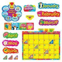 Trend WipeOff Stars/Swirls Calendar Bulletin Board Set TEP8320