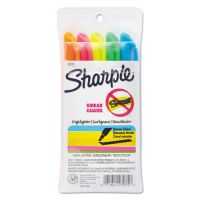 Sharpie Accent Pocket Style Highlighter, Chisel Tip, Assorted Colors, 5/Set SAN27075