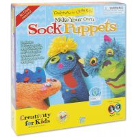 Creativity For Kids Make Your Own Sock Puppets Kit NOTM378531