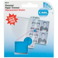 Carl Personal Paper Trimmer Replacement Blades 4/Pkg NOTM265746