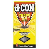 d-CON Mouse Glue Trap, Plastic, 4 Traps/Box, 12 Boxes/Carton RAC78642