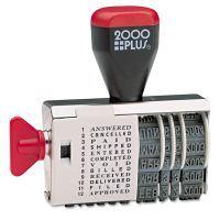 COSCO 2000PLUS Dial-N-Stamp, 12 Phrases, 1 1/2 x 1/8 COS010180