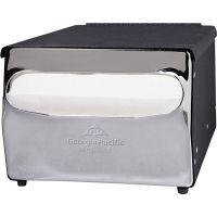 Georgia Pacific Professional MorNap Tabletop Napkin Dispenser, 7 1/2 x 6 x 4 3/8, Black/Chrome GPC51202CT