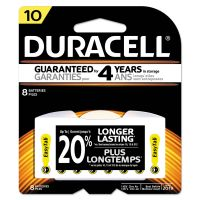 Duracell Lithium Medical Battery, 3V, #10, 8/Pk DURDA10B8ZM10