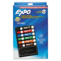 EXPO Dry Erase Marker & Organizer Kit, Chisel Tip, Assorted, 6/Set SAN80556