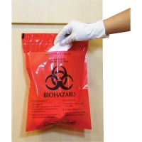 CareTek Stick-On Biohzrd Infectious Red Waste Bags CTKCTRB042214