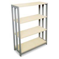 Linea Italia Trento Line Bookcase, Three-Shelf, 31-1/2w x 11-5/8d x 43-1/4h, Oatmeal LITTR735OAT