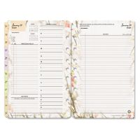 FranklinCovey Blooms Dated Daily Planner Refill, January-December, 5 1/2 x 8 1/2, 2019 FDP3544