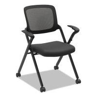 HON VL314 Mesh Back Nesting Chair, Black/Black, 2/Carton BSXVL314BLK