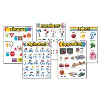 "TREND Learning Chart Combo Packs, Kindergaten Basics, 18"" x 27 1/4"", 5/Set TEP38920"