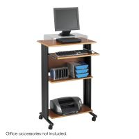 Fixed height stand-up workstation, cherry shelves/black frame SAF1923CY
