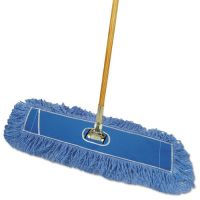 "Boardwalk Looped-End Dust Mop Kit, 24 x 5, 60"" Metal/Wood Handle, Blue/Natural BWKHL245BSPC"