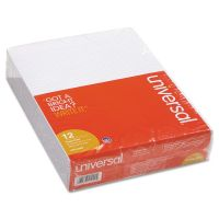 Universal Glue Top Writing Pads, Narrow Rule, Letter, White, 50 Sheet Pads/Pack, Dozen UNV41000
