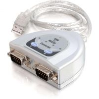C2G 2ft USB to 2-Port DB9 Serial Adapter Cable SYNX1773849