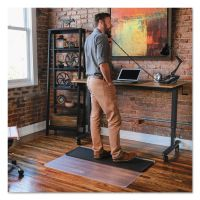 ES Robbins Sit or Stand Mat for Carpet or Hard Floors, 45 x 53, Clear/Black ESR184603