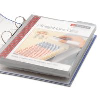 Smead Poly Ring Binder Pockets, 9 x 11-1/2, Clear, 3/Pack SMD89500