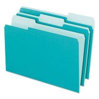 Pendaflex Interior File Folders, 1/3 Cut Top Tab, Letter, Aqua, 100/Box PFX421013AQU