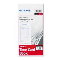 Rediform Employee Time Card, Semi-Monthly, 4-1/4 x 8, 100/Pad RED4K402