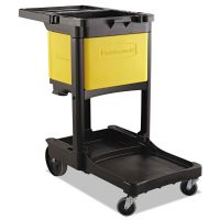 Rubbermaid Commercial Locking Cabinet, For Rubbermaid Commercial Cleaning Carts, Yellow RCP6181YEL