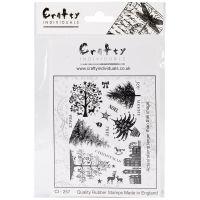 """Crafty Individuals Unmounted Rubber Stamp 4.75""""X7"""" Pkg NOTM082664"""