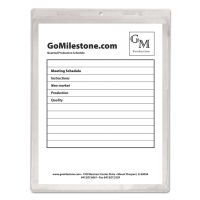 C-Line Clear Vinyl Shop Ticket Holder, Both Sides Clear, 50 Sheets, 9 x 12, 50/BX CLI80912