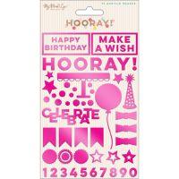 Hooray Acrylic Shapes 75/Pkg NOTM439838