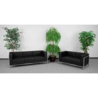 Flash Furniture HERCULES Imagination Series Black Leather Sofa & Loveseat Set FHFZBIMAGSET2GG