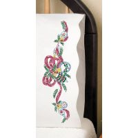 """Stamped Pillowcase Pair For Embroidery 20""""X30"""" NOTM050255"""