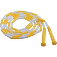 Champion Sports Segmented Plastic Jump Rope, 8ft, Yellow/White CSIPR8