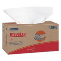 WypAll* L40 Towels, POP-UP Box, White, 10 4/5 x 10, 90/Box, 9 Boxes/Carton KCC03046